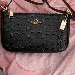 Fancy black coach purse